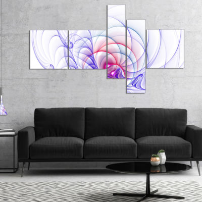 Designart 3D Blue Surreal Illustration MultipanelAbstract Wall Art Canvas - 5 Panels