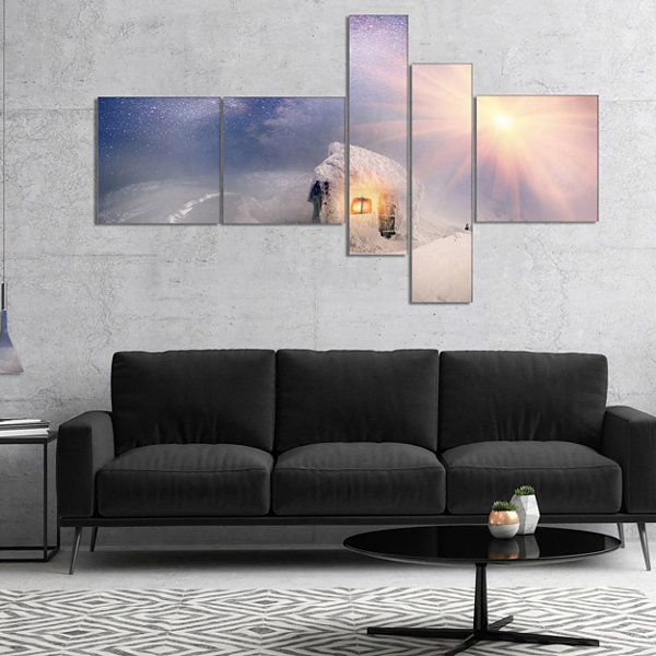Designart House Of Rescuers Hoverla Multipanel Landscape Photo Canvas Art Print - 4 Panels