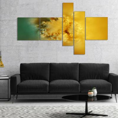 Designart 3D Prickly Digital Illustration Multipanel Abstract Canvas Art Print - 4 Panels