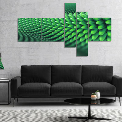 Designart Abstract 3D Spiny Background MultipanelAbstract Canvas Wall Art - 5 Panels