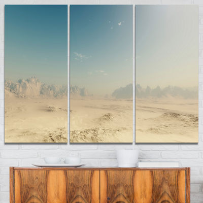Designart Sandy Dessert Landscape Photography Canvas Print - 3 Panels