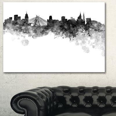 Designart Sao Paulo Skyline Cityscape Canvas Artwork Print