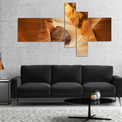 Designart Inside Antelope Canyon Usa Multipanel Landscape Photo Canvas Art Print - 5 Panels