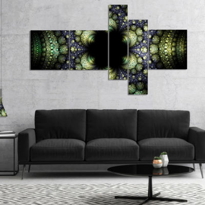 Designart Into The Center Of Fraction Multipanel Abstract Canvas Art Print - 4 Panels