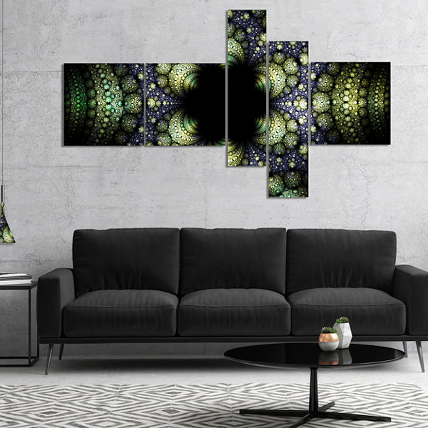 Designart Into The Center Of Fraction MultipanelAbstract Canvas Art Print - 5 Panels