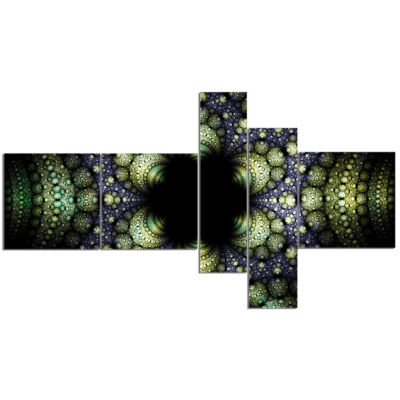 Designart Into The Center Of Fraction Multipanel Abstract Canvas Art Print - 5 Panels