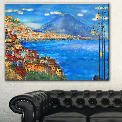 Designart Saturday Night Sea Landscape Painting Canvas Print