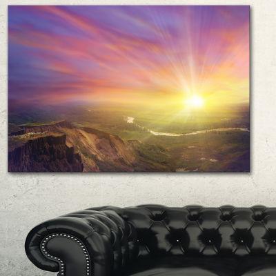Designart Scintillating Sunset Photography CanvasArt Print