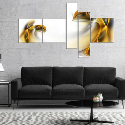 Designart Abstract Gold Texture Pattern MultipanelAbstract Canvas Art Print - 5 Panels