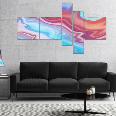Designart Abstract Marbled Background MultipanelAbstract Canvas Wall Art - 5 Panels