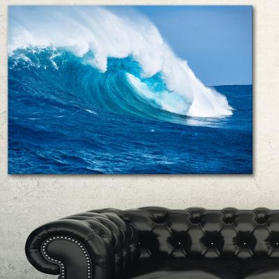 Designart Sea Returns Photography Seascape CanvasPrint