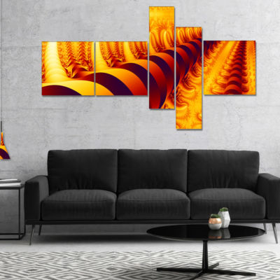 Designart Abyss With Infinite Depth Multipanel Abstract Canvas Art Print - 4 Panels
