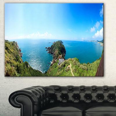Designart Seascape View From Hillside PhotographyCanvas Art Print