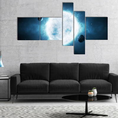 Designart Large Star Multipanel Spacescape CanvasArt Print - 5 Panels