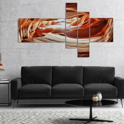 Designart Antelope Canyon Arch Multipanel Landscape Photo Canvas Art Print - 4 Panels
