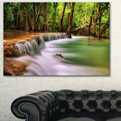 Designart Secodn Level Erawan Waterfall Photography Canvas Art Print