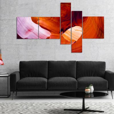 Designart Antelope Canyon Usa Multipanel LandscapePhoto Canvas Art Print - 4 Panels