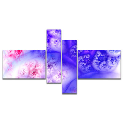 Designart Light Blue Magic Stormy Sky MultipanelAbstract Canvas Art Print - 4 Panels