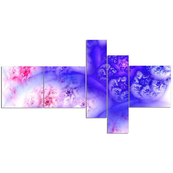 Designart Light Blue Magic Stormy Sky MultipanelAbstract Canvas Art Print - 5 Panels
