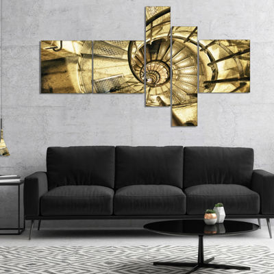 Designart Architectural Detail Of Paris In WinterMultipanel Abstract Canvas Art Print - 5 Panels