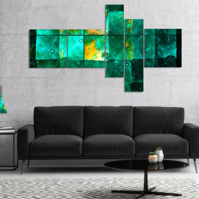 Designart Astrological Space Map Multipanel Abstract Wall Art Canvas - 4 Panels