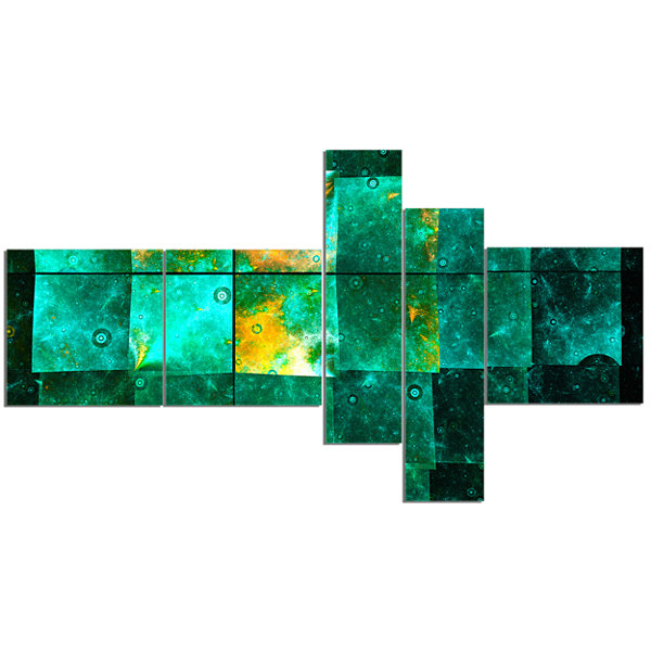 Designart Astrological Space Map Multipanel Abstract Wall Art Canvas - 5 Panels