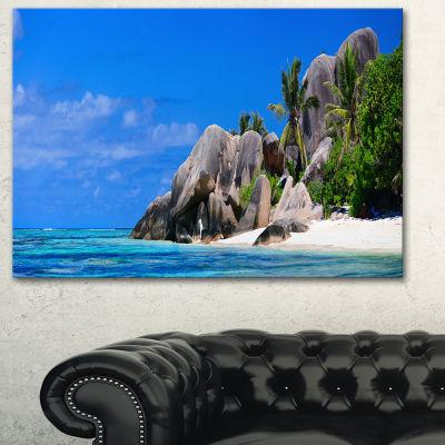 Designart Seychelles Beach Panorama Landscape Photography Canvas Print