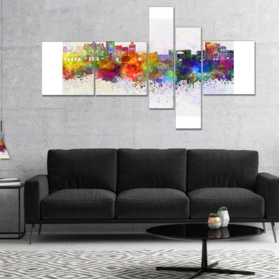 Designart Avila Skyline Multipanel Cityscape Canvas Artwork Print - 5 Panels