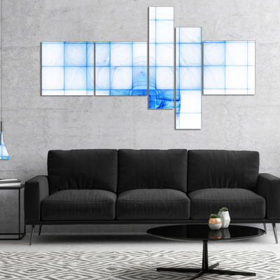 Designart Bat Outline On Radar Screen MultipanelAbstract Canvas Art Print - 4 Panels
