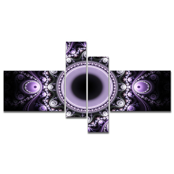 Designart Light Purple Pattern With Circles Multipanel Abstract Canvas Art Print - 4 Panels