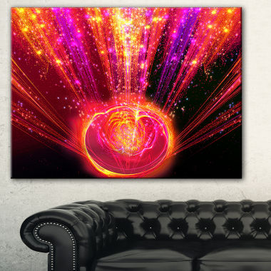 Designart Shining Radical Blast With Magic Ball Abstract Print On Canvas