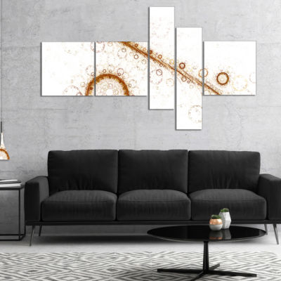 Designart Live Cell Protein Under Microscope Multipanel Abstract Print On Canvas - 5 Panels