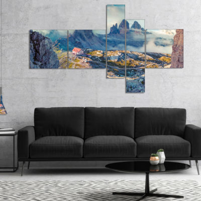 Designart Beautiful Lacatelli In National Park Multipanel Landscape Canvas Art Print - 5 Panels