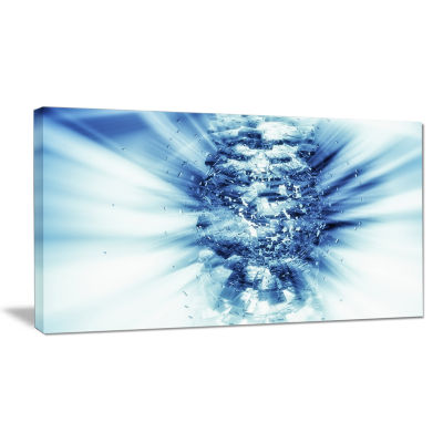 Designart Magical Blue Psychedelic Forest Multipanel Abstract Canvas Art Print - 5 Panels