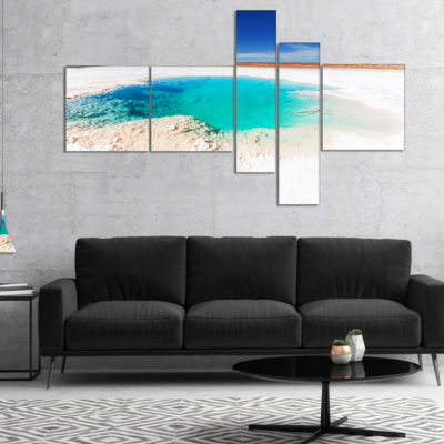 Designart Beautiful Salinas Lake In Argentina Multipanel Landscape Canvas Art - 5 Panels