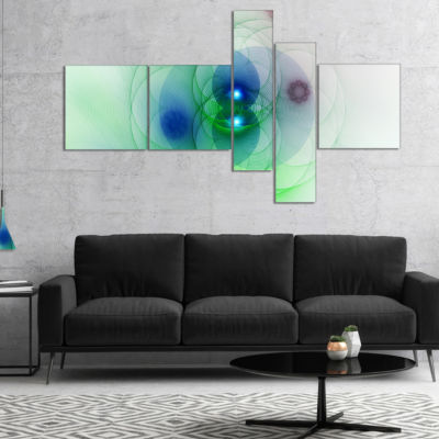 Designart Merge Colored Spheres. Multipanel Abstract Canvas Art Print - 4 Panels