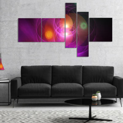 Designart Merge Colored Spheres. Multipanel Contemporary Canvas Art Print - 4 Panels