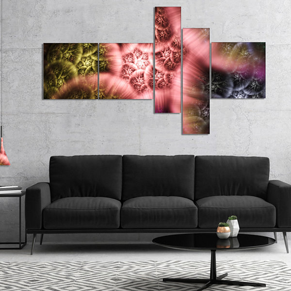 Designart Biblical Sky With Multi Color Clouds Multipanel Abstract Wall Art Canvas - 5 Panels