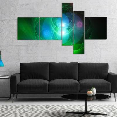 Designart Merge Colored Spheres. Multipanel Contemporary Canvas Artwork Print - 5 Panels