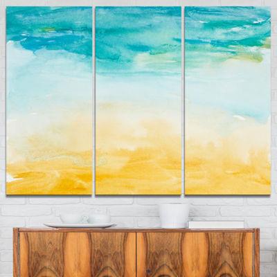 Designart Soil And Sky Strokes Landscape Art PrintCanvas - 3 Panels