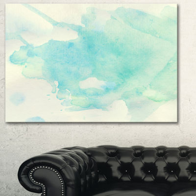 Designart Stain Of Imagination Abstract Canvas ArtPrint - 3 Panels