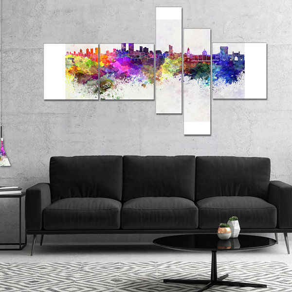 Designart Mumbai Skyline Multipanel Cityscape Canvas Wall Art Print - 4 Panels