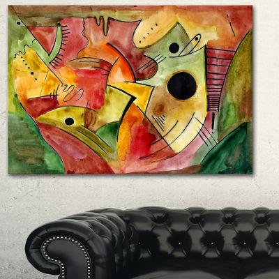 Designart Stimulating Mood Abstract Canvas Art Print