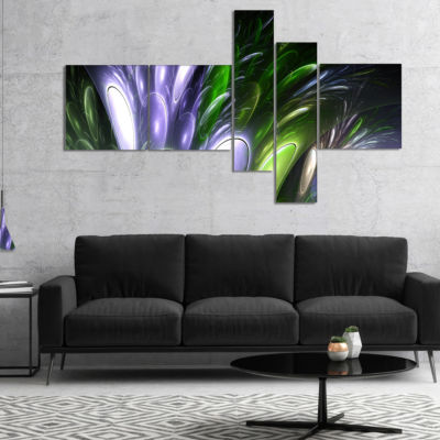 Designart Mysterious Psychedelic Flower MultipanelAbstract Wall Art Canvas - 5 Panels