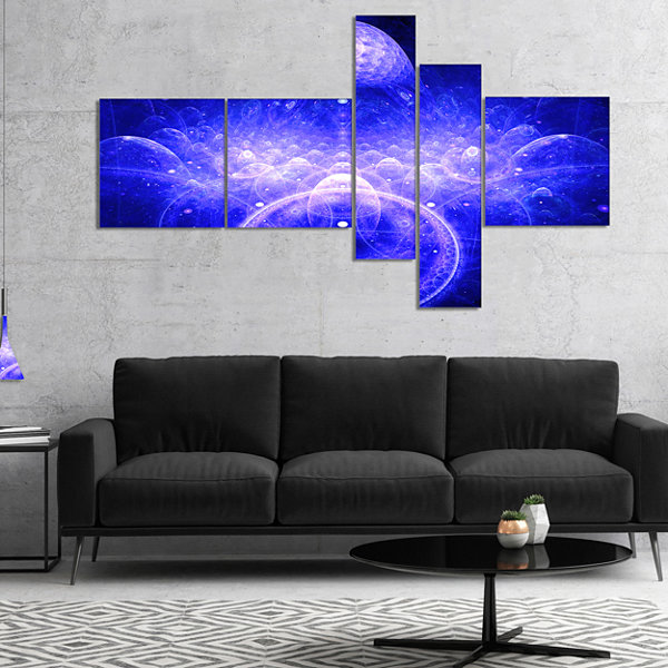 Designart Mystic 3D Surreal Illustration Multipanel Abstract Canvas Art Print - 5 Panels