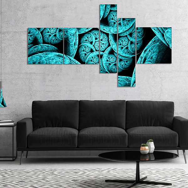 Designart Blue Dramatic Clouds Multipanel AbstractArt On Canvas - 4 Panels