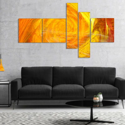 Designart Mystic Abstract Fractal Rose MultipanelAbstract Wall Art Canvas - 5 Panels