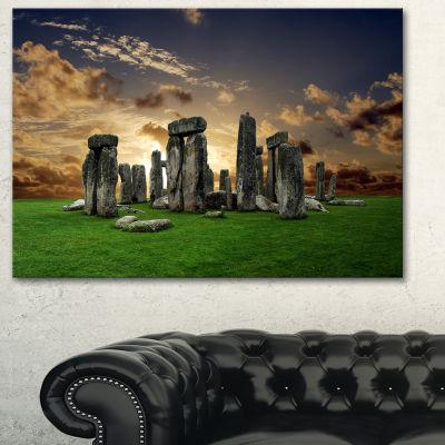 Designart Stonehenge Landscape Photography CanvasArt Print
