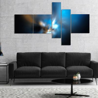 Design Art Mystic Green Fractal Multipanel AbstractWall Art Canvas - 5 Panels