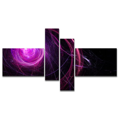 Designart Nebula Is A Bright Star. Star Swirl. Colored Sparks. - 4 Panels